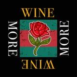 Mais vinho ilustração royalty free