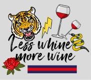 Mais vinho ilustração stock