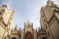 Maisel犹太教堂在布拉格 库存图片