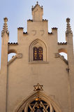 Maisel犹太教堂(Maiselova synagoga)在布拉格 免版税图库摄影