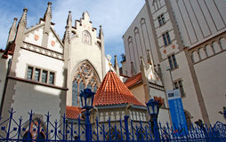 Maisel Synagogue in Jewish Quarter in Prague Stock Photos