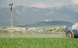 Maisfelder und -Ackerschlepper Lizenzfreies Stockfoto