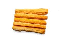 Maiskäsestock auf Weiß Stockfotografie