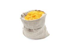 Maiskörner in einem Beutel. Stockfoto