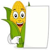 Maiskolben-Charakter mit leerem Papier vektor abbildung