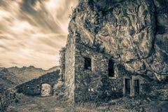 Maison在Feliceto附近的du bandit在可西嘉岛 免版税库存照片