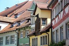 Maison à colombage de Meersburg, une ville de Baden-Wurttemberg dedans image libre de droits