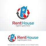 Maison à louer Logo Template Design Vector, emblème, concept de construction, symbole créatif, icône Image libre de droits