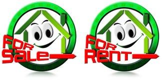 Maison à vendre et le loyer Photo stock