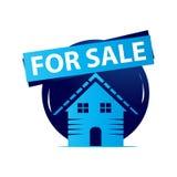 Maison à vendre l'icône Photo libre de droits