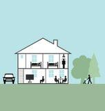 Maison illustration stock