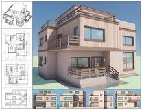 Maison. illustration de vecteur