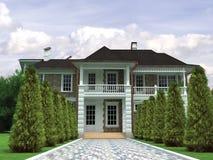 maison 3D Photographie stock libre de droits