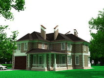 maison 3D Photographie stock