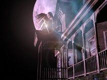 maison 3D avec l'ange. Photographie stock libre de droits