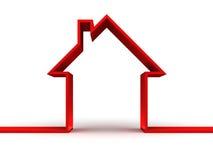 Maison 3d rouge