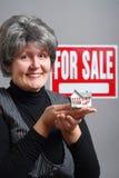Maison aînée à vendre Image libre de droits