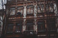 Maison abandonée à Porto Photographie stock libre de droits