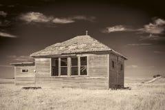Maison abandonnée au Nébraska rural Photographie stock