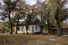 Maison abandonnée dans la région d'Almaty Photographie stock