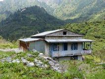 Maison abandonnée dans le village de Bagarchhap, Népal Image libre de droits