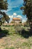 Maison abandonnée dans les ruines Images libres de droits