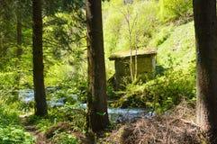 Maison abandonnée dans Stanghe Images stock