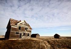Maison abandonnée de ferme Images libres de droits