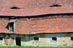 Maison abandonnée médiévale Photo stock