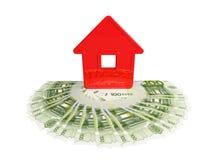 Maison abstraite avec un cent-euro illustration stock