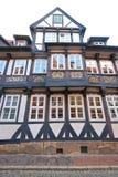 Maison allemande de moitié-bois de construction Photo libre de droits