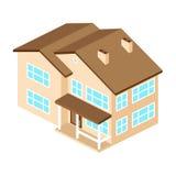 Maison américaine suburbaine d'Iisometric Pour le web design et l'applicati Illustration Libre de Droits