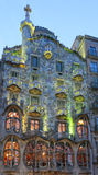 Maison Batllo, architecture de Gaudi, Eixample, Barcelone, Espagne Photos libres de droits