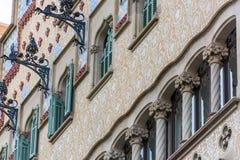 Maison Battlo de Chambre à Barcelone, Espagne Images libres de droits