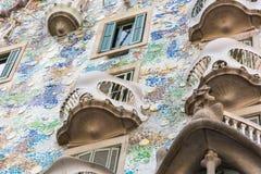 Maison Battlo de Chambre à Barcelone, Espagne Photographie stock