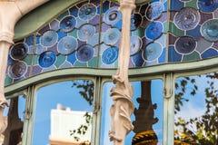 Maison Battlo de Chambre à Barcelone, Espagne Photos stock