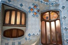 Maison Battlo par Gaudi à Barcelone Image libre de droits