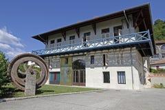 Maison Berges, museum av Houille Blanche Arkivbild
