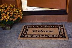 Maison bienvenue Image libre de droits