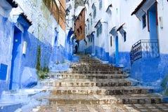 Maison bleue Images libres de droits