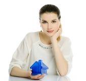 Maison bleue Images stock