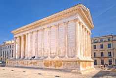 Maison Carree, Nimes, France Stock Photos