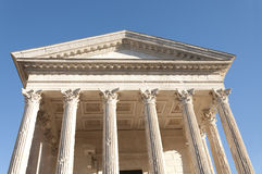 The Maison Carree, Nimes, France Stock Images