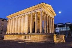 Maison Carree in Nîmes Stock Afbeeldingen