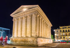 Maison Carree, a Roman temple in Nimes Stock Image