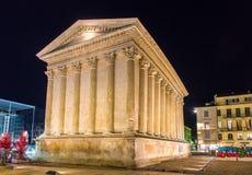 Maison Carree, a Roman temple in Nimes Stock Image