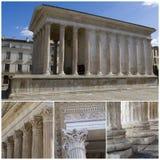 Maison Carree - Roman temple. Nimes, France Royalty Free Stock Image