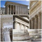 Maison Carree - romersk tempel Nimes Frankrike Royaltyfri Fotografi