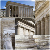 Maison Carree - templo romano Nimes, França Fotografia de Stock Royalty Free