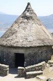 Maison celtique en Santa Tecla Mountain photo stock